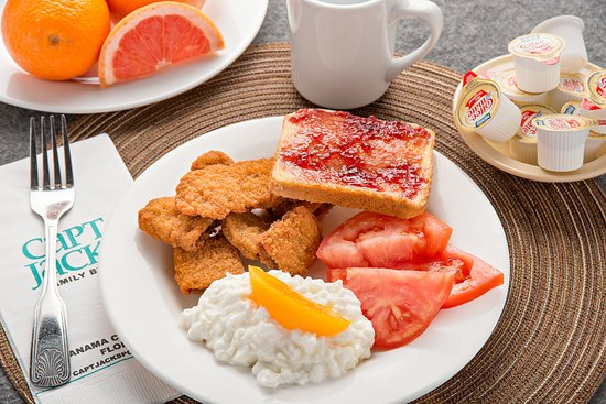 Capt. Jack's Family Buffet: We serve our breakfast buffet at our Front Beach Road location every day from 8a-11a