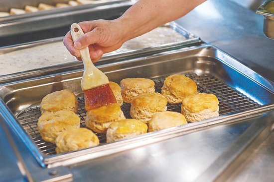 Capt. Jack's Family Buffet: Fresh biscuits every morning on our breakfast buffet 8a-11a