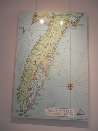 Machipongo, VA: Map of the lower Eastern Shore of Virginia