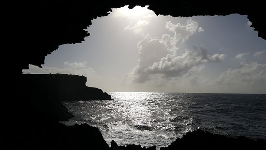 Animal Flower Cave: View from inside the main cave