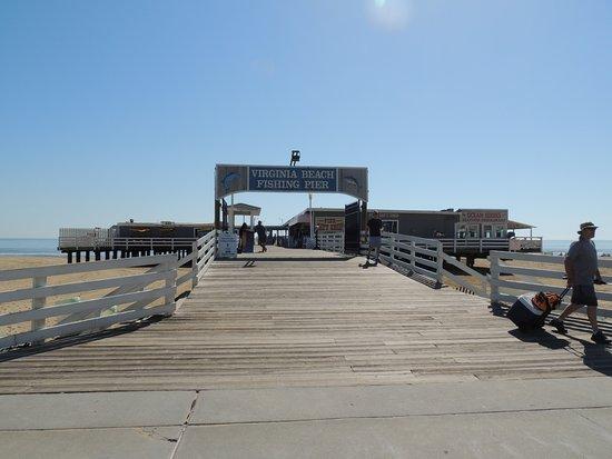 pier entrance from the boardwalk picture of virginia beach rh tripadvisor com