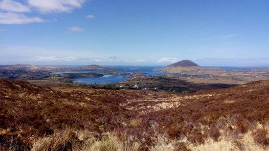 Connemara National Park: Terres brulées....