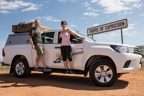 Africa 4x4 Rentals: Us and our amazing car!