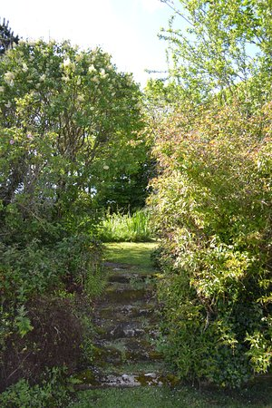 Gulval, UK: View of the Garden from large chalet