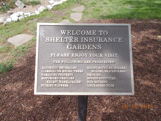 Shelter Gardens: Plaque