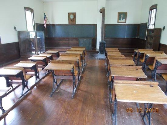 Shelter Gardens: Inside school house