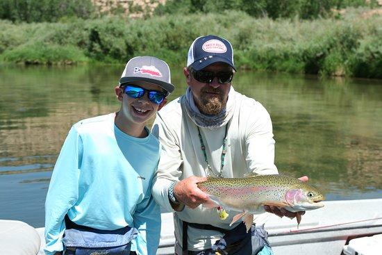 Navajo Dam, NM: Great healthy rainbow trout.