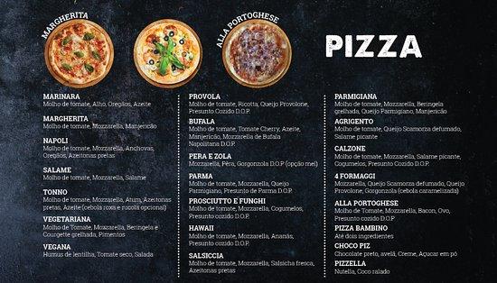 Inforno & Sforno Pizzeria Italiana: Menu pizzas