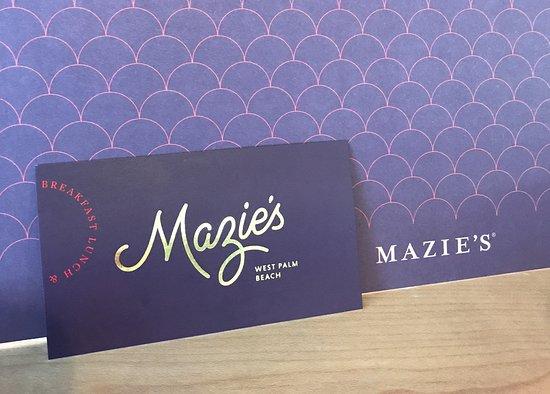 Mazie's WPB: MAZIE'S Logo