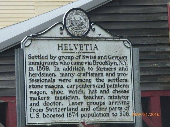 Helvetia Hutte Restaurant: Landmark Sign