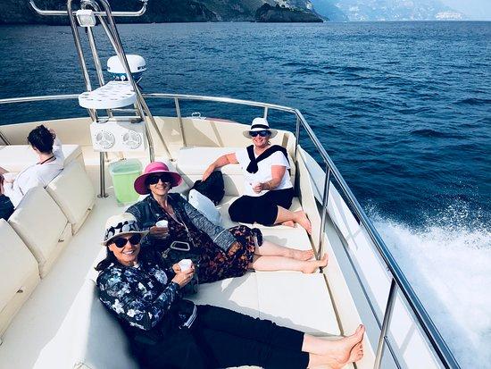 Holiday House Gilda: On the boat to Capri