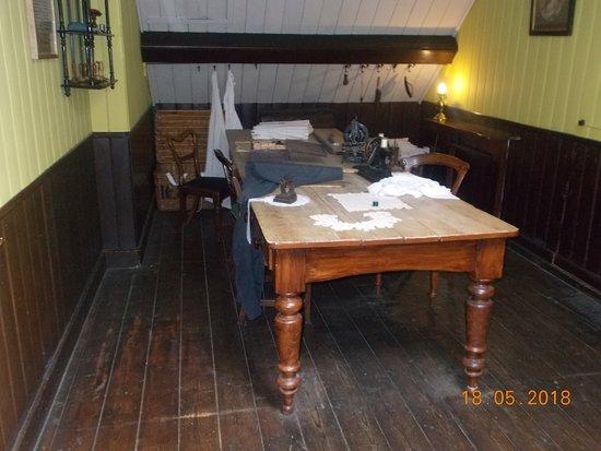 Bramhall, UK: sewing room