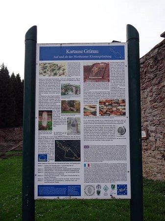 Former Monastery Grunau: information board