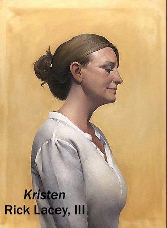 "Essex, CT: ""Kristen"" by Rick Lacey, III, oil, 56 x 60"""