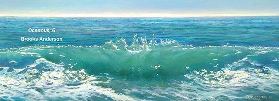 "Essex, CT: ""Oceanus 6"" by Brooks Anderson, oil, 18 x 48"""