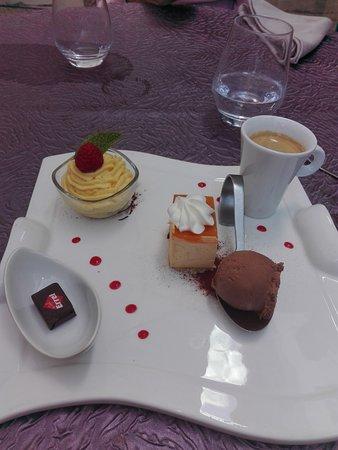 Sorges, France : Café gourmand