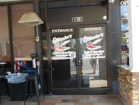 CP Shucker's: Main doors.