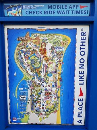 Πάρκο Αναψυχής Cedar Point: Cedar Point Map