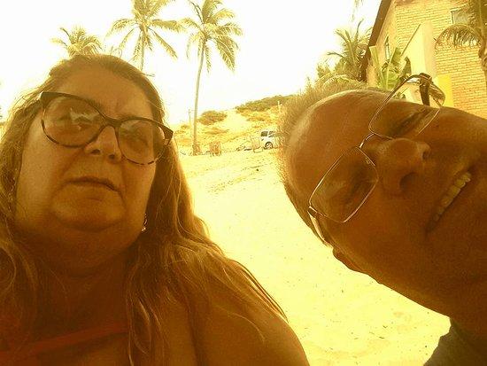 Lagoinha, CE: nós na praia de lagoinha