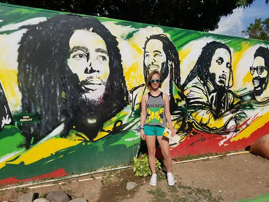 Bob Marley Museum: Bob Marley mural