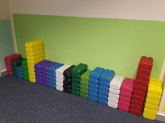 Mega lego blocks - Picture of Kafe Spunt, Prague - TripAdvisor