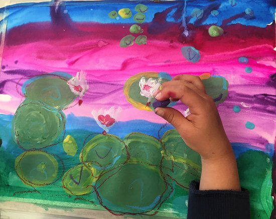 J. F. Mazur Studio: Private lessons for preschoolers. Mixed media Monet paintings!