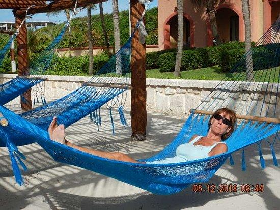 Sandos Playacar: Love the hammocks!