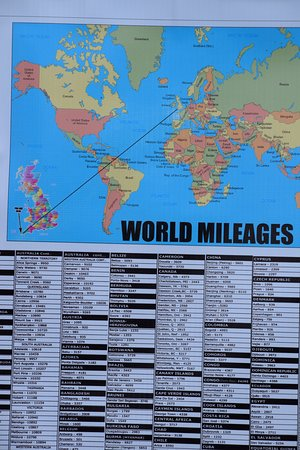 Sennen, UK: World Mileages