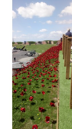 Royal Armouries - Fort Nelson: Poppy Wave approach