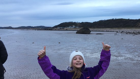 Ardrossan, UK: Heidi loving the beach