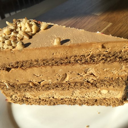 The best coffee and walnut cake I've ever tasted!