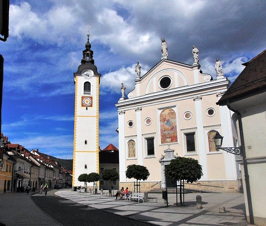 Kamnik, Slovenia: Church and tower