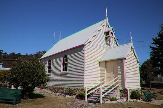 Bicheno Community Church: All in white