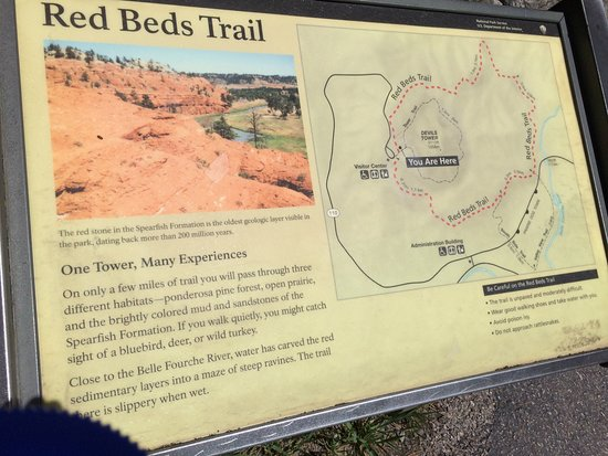Devils Tower, WY: Red Bed Trail info