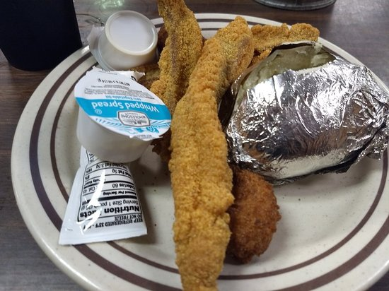 Brookhaven, MS: Three filets and potato
