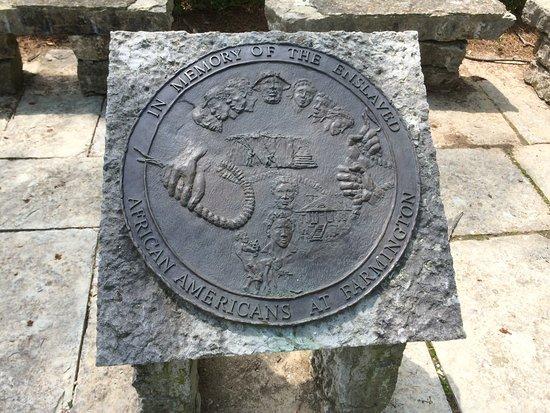 Farmington Historic Home: FARMINGTON HISTORIC HOUSE SLAVE MEMORIAL PLAQUE