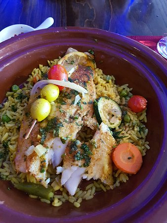 Joliette, Canada: la tagine de poisson avec riz au safran