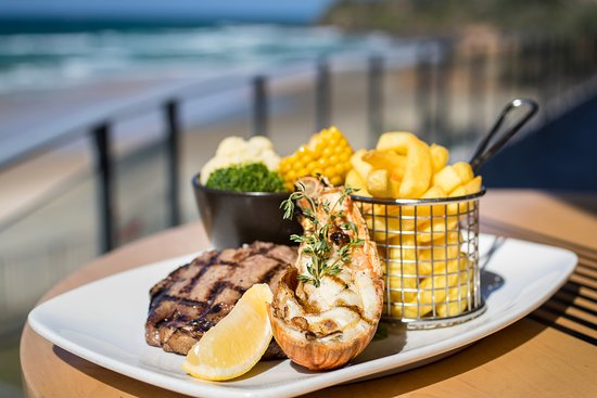 Coolum Beach, Australia: Steak and seafood, cooked to perfection on our wood fired char grill.
