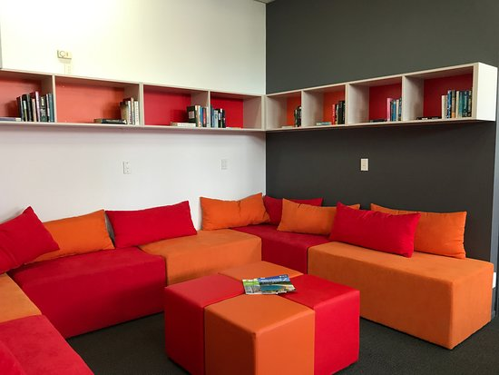 YHA Nelson by Accents: Our Book Exchange and Reading Nook