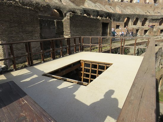 Small-Group Tour: Colosseum Underground: Where the animals were lifted into the arena