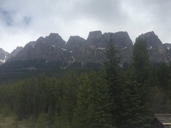 Bow Valley Parkway: View the of the mountain from the picnic spot by Castle Mountain ....pack a lunch and stop here!