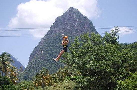 Zipline Experience at Morne Coubaril...