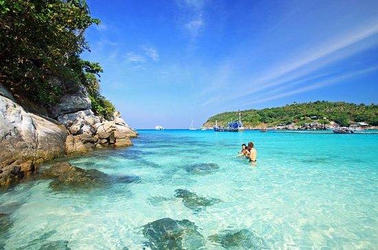 Isla Raya e Isla Coral en lancha...