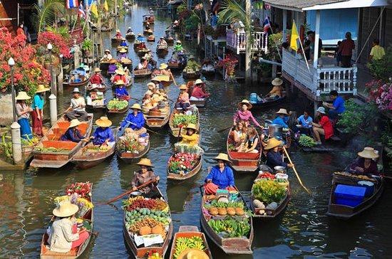 Schwimmender Markt mit Wat Bang Kung...