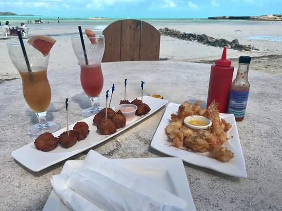 Five Cays Settlement, Providenciales: Conch Fritters & Coconut Shrimp