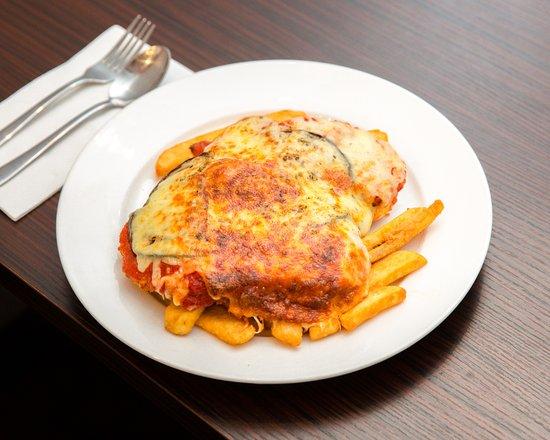 Concord, Australia: Chicken Parmigiana with Beer Battered Chips