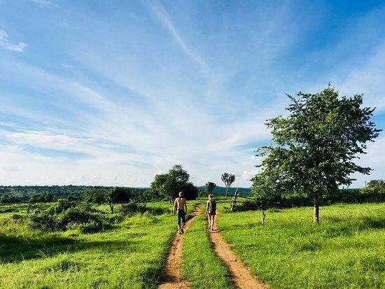Lake Mburo National Park, Uganda: going for a walk.