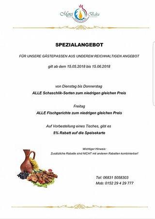 Dillingen, Германия: Spezialangebot von 15.05.2018 bis 15.06.2018