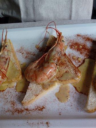 Migliarino, Italy: particolare gamberi in salsa