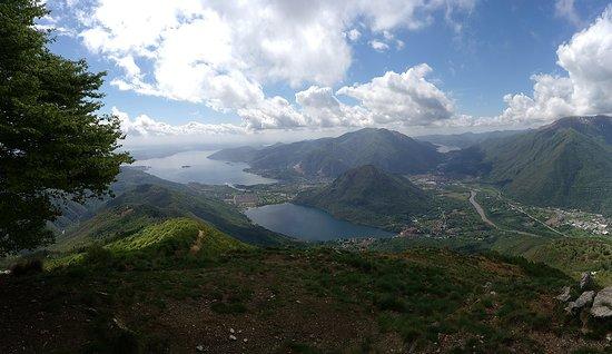 Province of Verbano-Cusio-Ossola, Itália: monte faiè. lago maggiore e mergozzo e orta